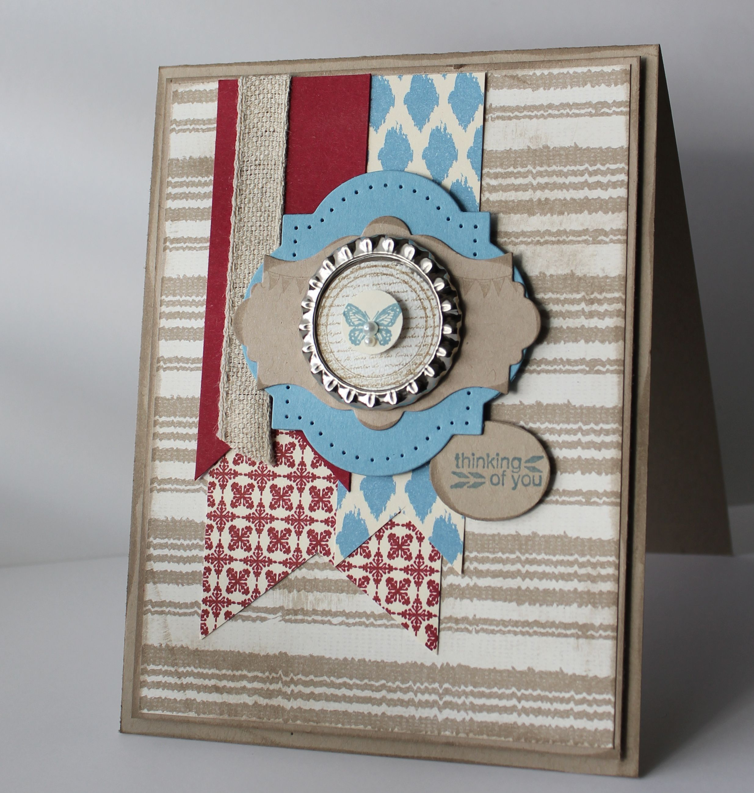 Soda Pop Top, Window Frame Framelits, Collage Curios set, Parker's Patterns DSP.  Great-looking card!