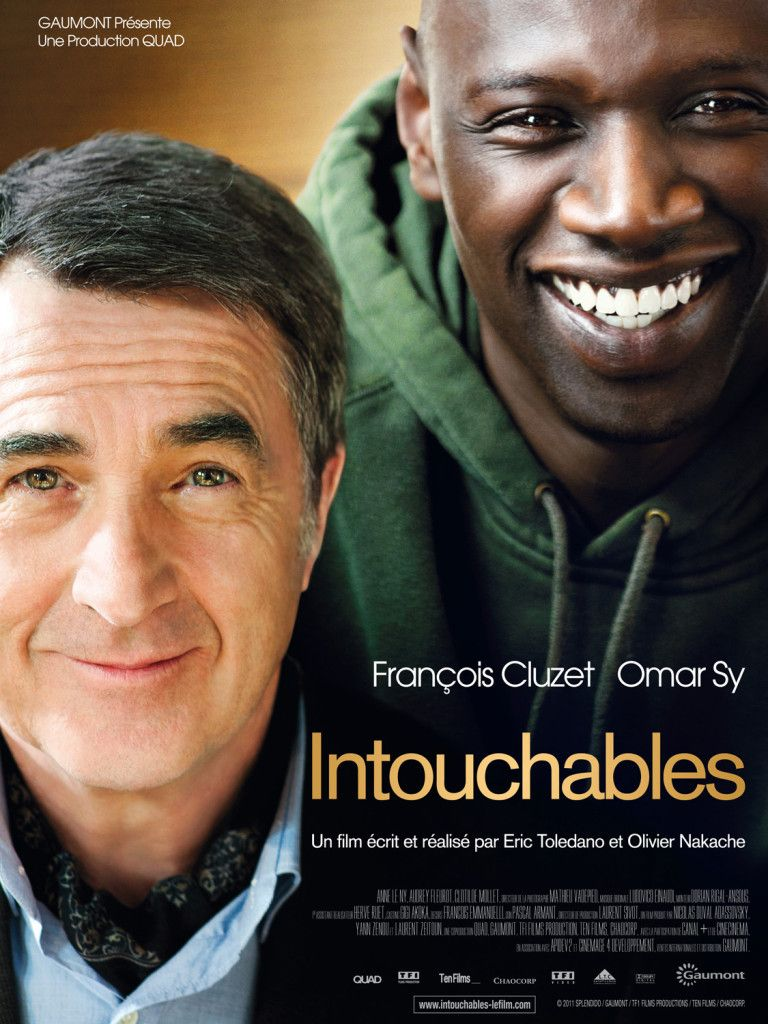 1+1 / Intouchables, 2011 Постер фильма, Фильмы, Комедия