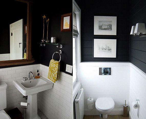 Schwarze Wande 48 Wohnideen Fur Moderne Raumgestaltung Kleine Badezimmer Kuchendesign Modern Toiletten Ideen