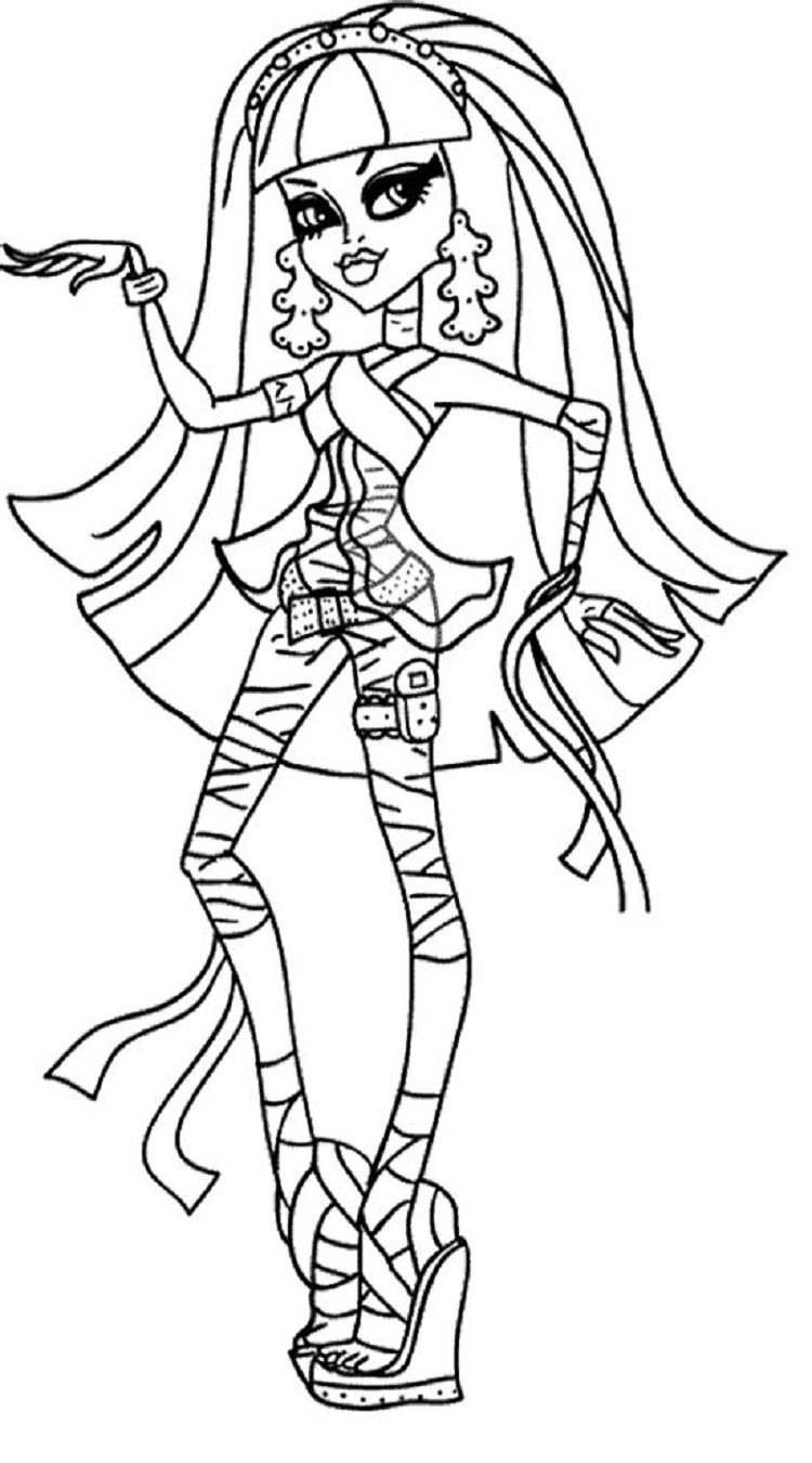 graphic about Monster High Printable Coloring Pages named monster large coloring web pages cleo de nile Dbest Coloring