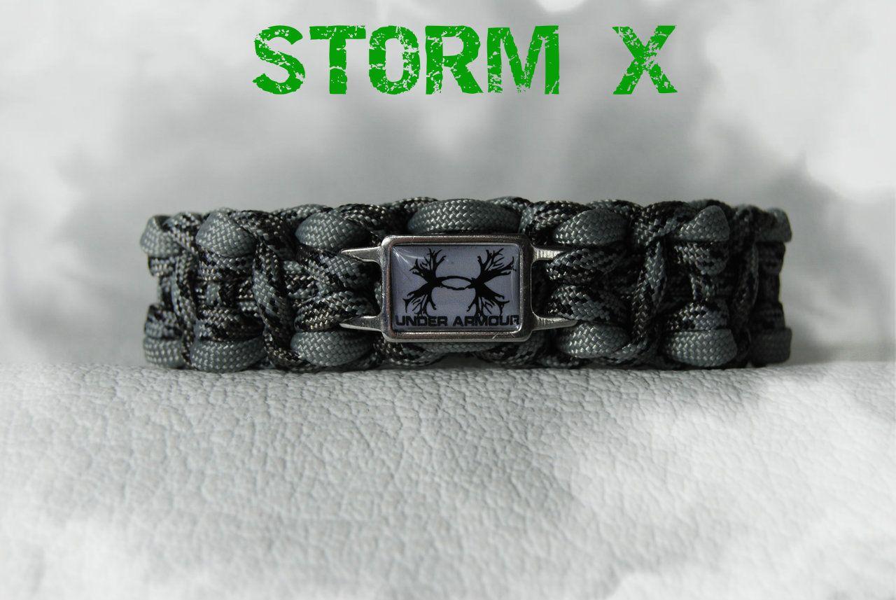 Helix Storm X Under Armour Antlers Bracelet In Anium Grey Camo Silver Inlay Ridge Reaper Logo
