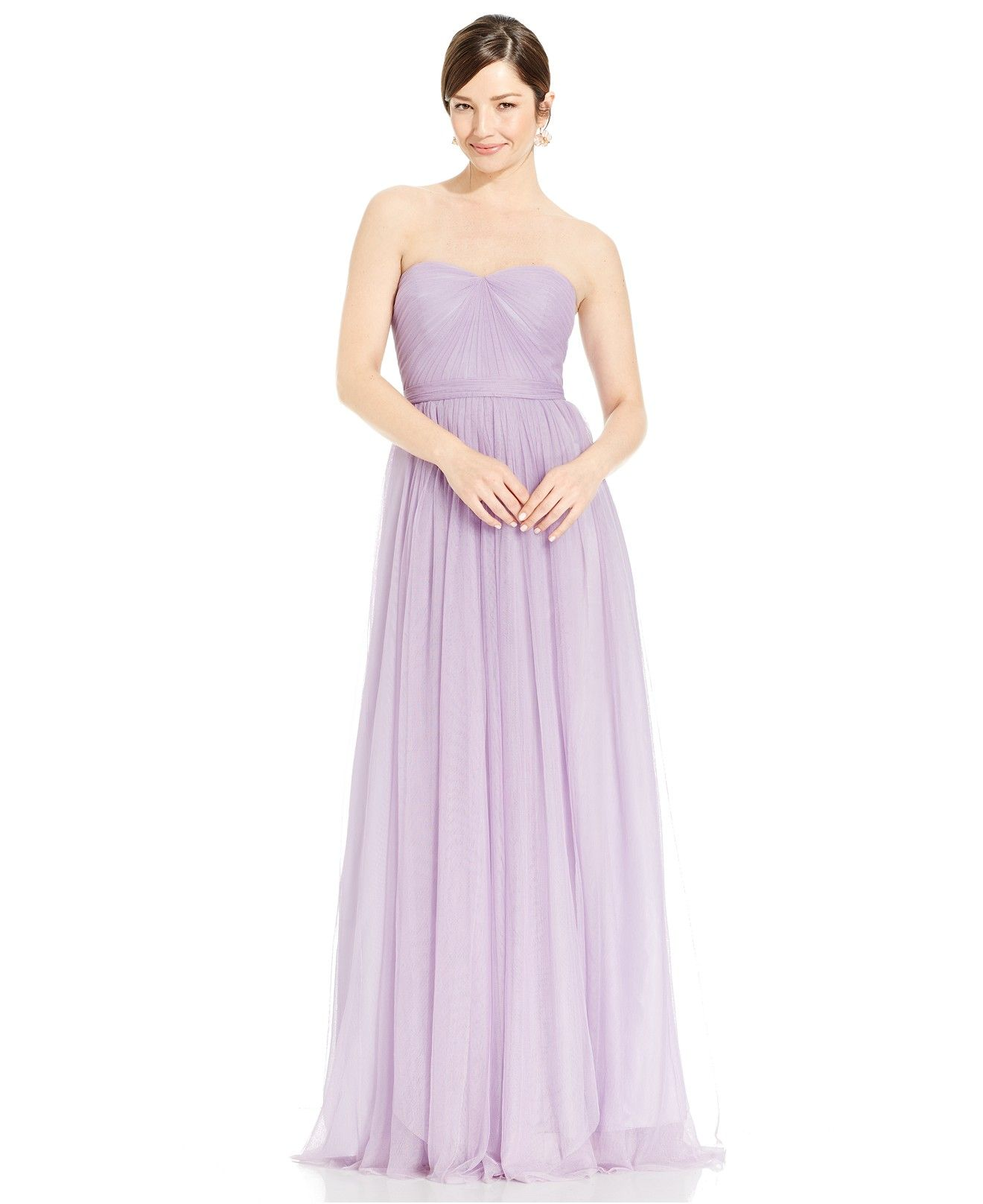 Adrianna papell pleated strapless tulle gown bridesmaids women adrianna papell pleated strapless tulle gown bridesmaids women macys ombrellifo Images