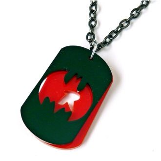 Let out your inner geek for those who love comic books & Superheroes  we have this super Batman and robin deluxe dog tag necklace
