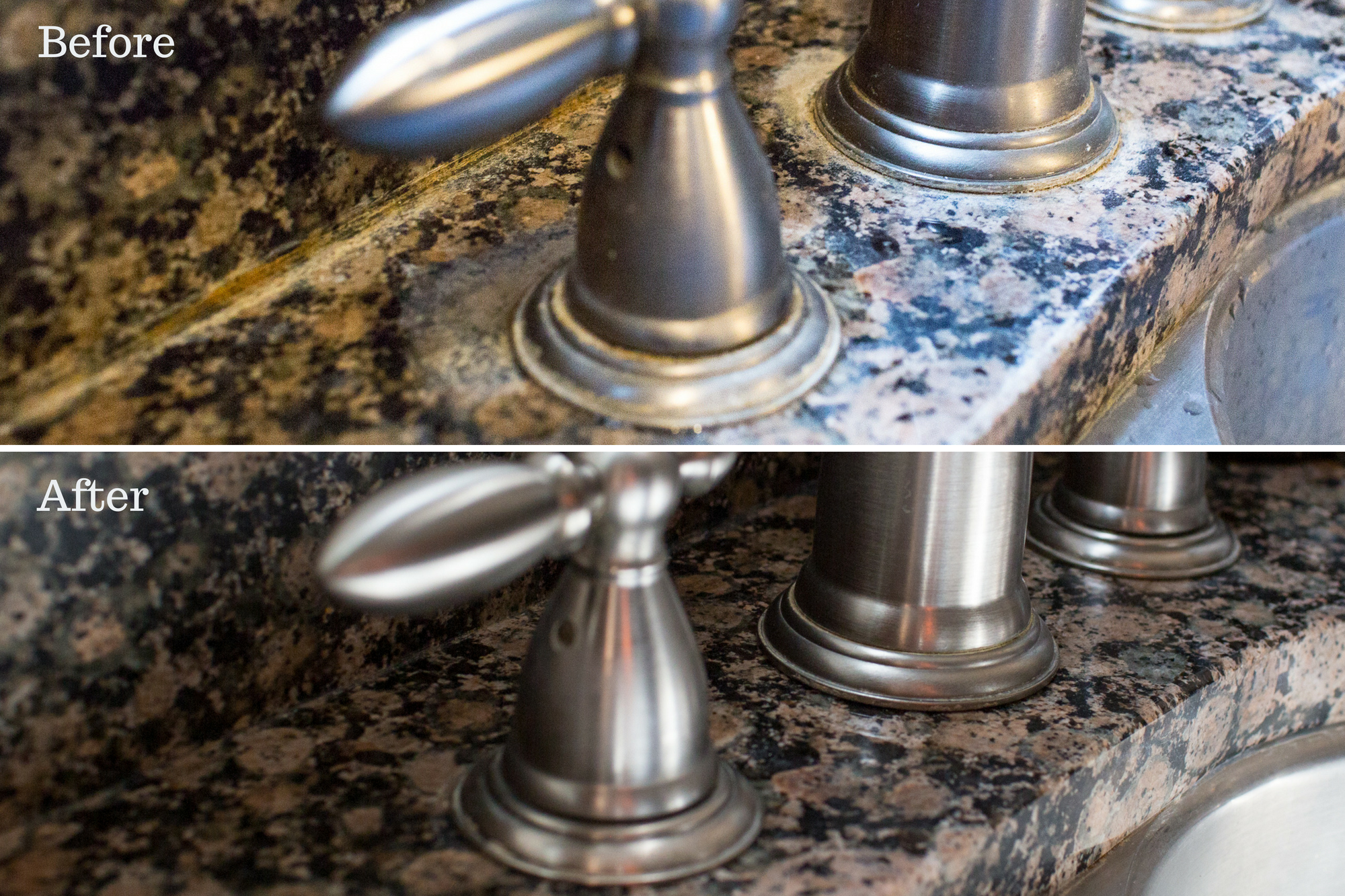 Removing Hard Water Stains From Granite No Harsh Chemicals