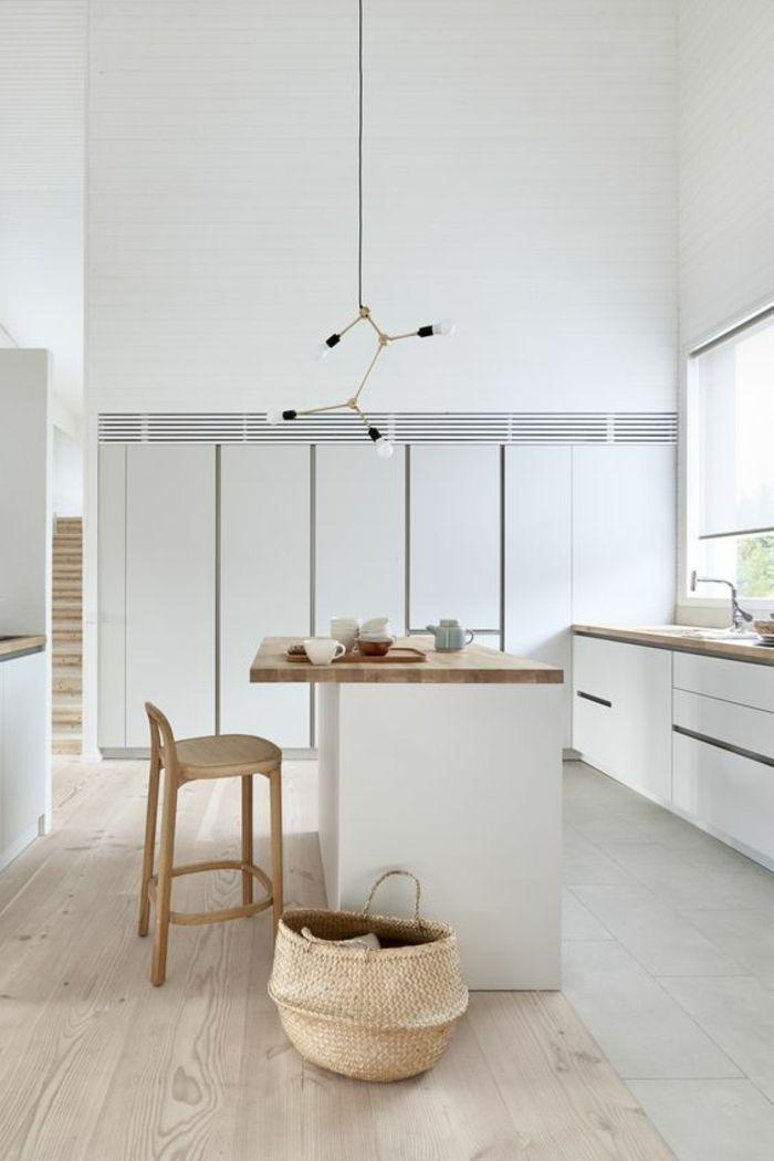 cuisine-aménagée-pas-cher-cuisine-ilot-avec-des-éléments-en ...