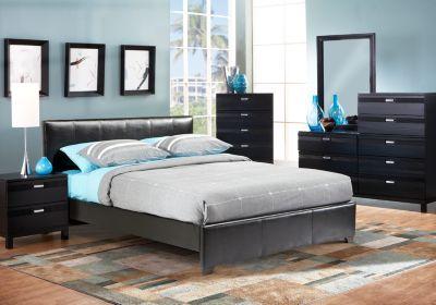gardenia black 5 pc queen upholstered bedroom master bedroom rh pinterest com