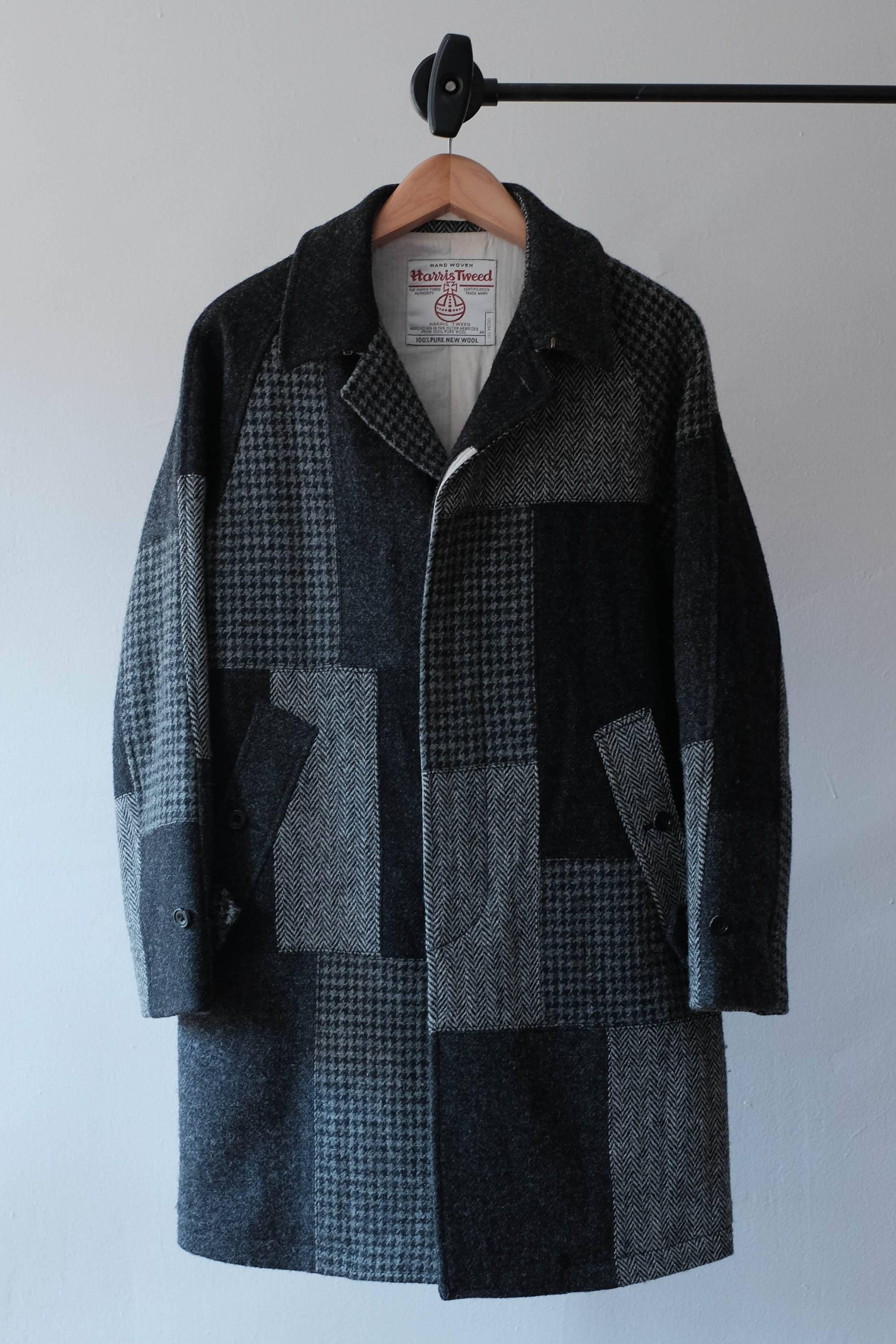 e37c3efb6d60c3 Beams Plus Harris Tweed Patchwork Coat Size US S   EU 44-46   1