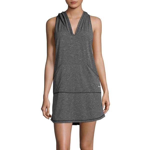 cf7a5d7bb9 Nike Women's Cover-Up Hooded Swim Dress ($51) ❤ liked on Polyvore featuring