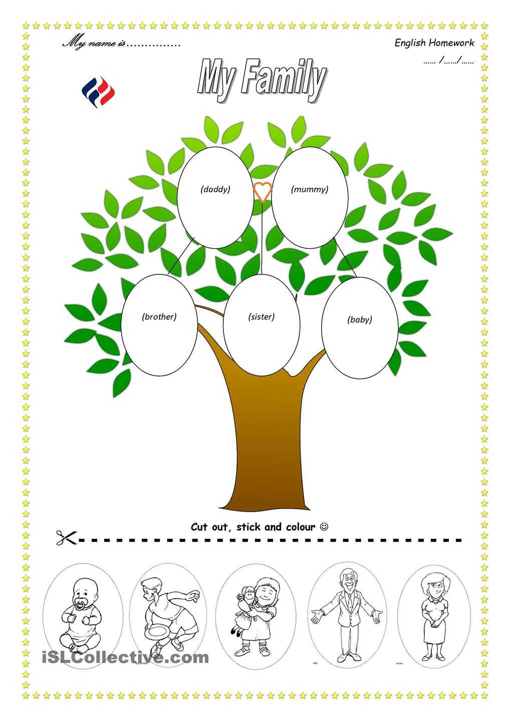 family tree template for kids Google Search – Family Tree Worksheets