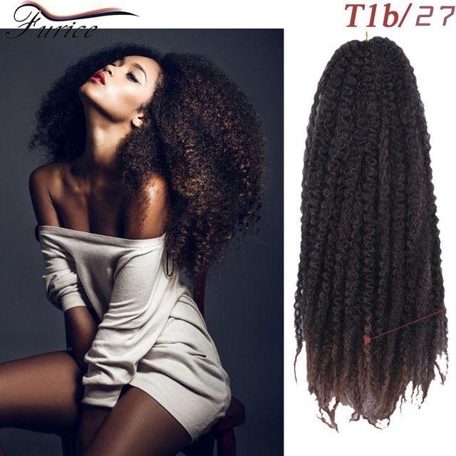 Afro Kinky Braiding Hair Extension Kinky Twist Curly Crochet Braids
