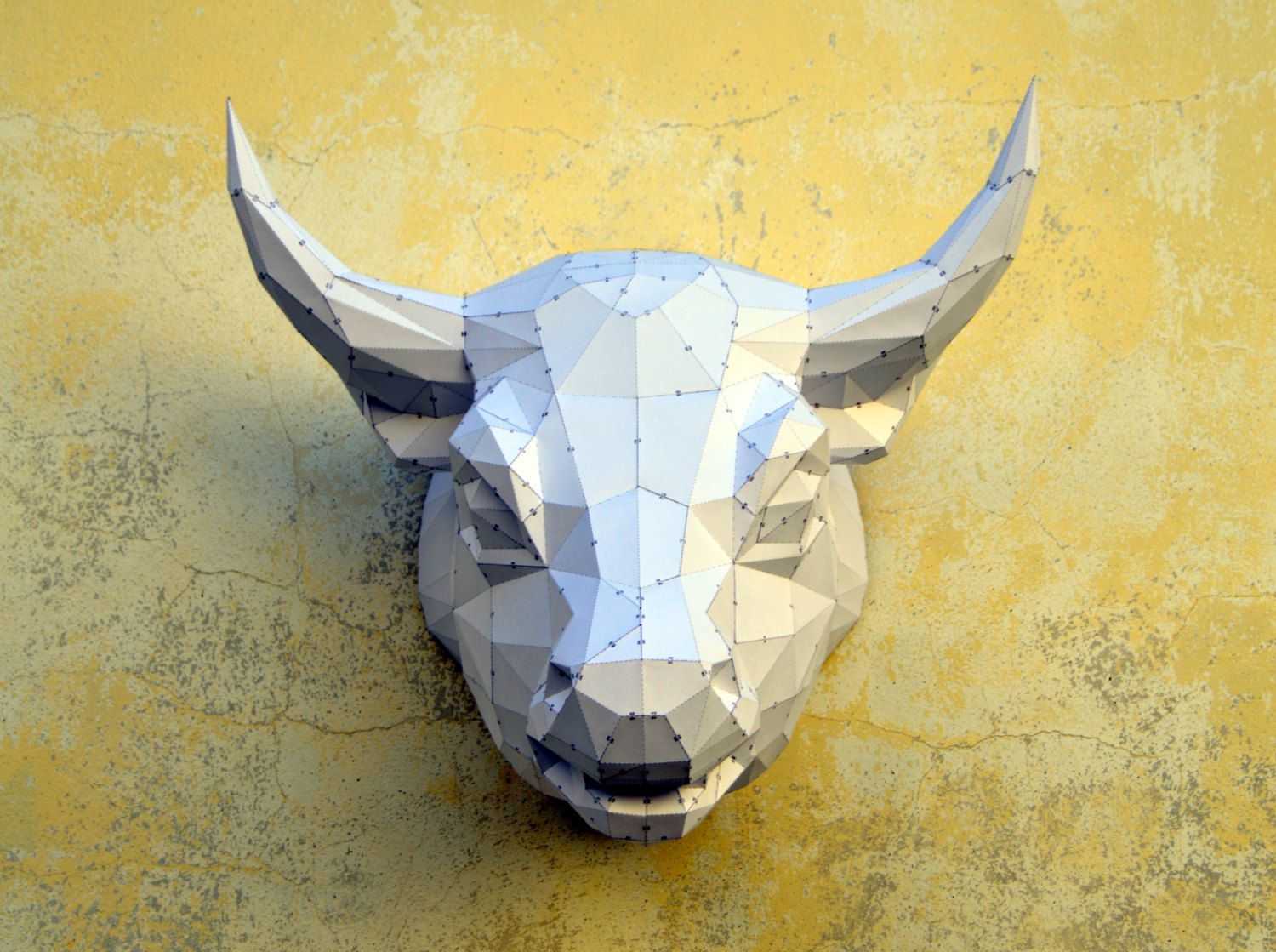 Papertrophy Make Your Own Bull Sculpture Bull Papercraft Animal