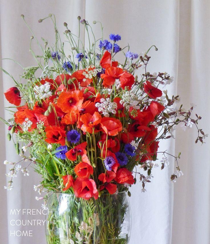 bleu blanc rouge for bastille day Red flower