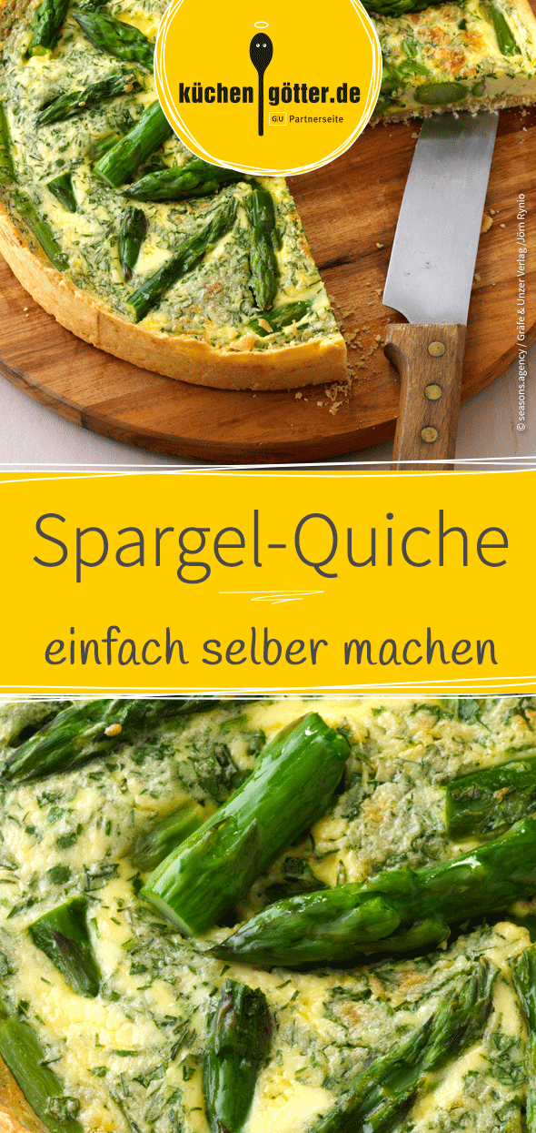 Photo of Quiche mit grünem Spargel