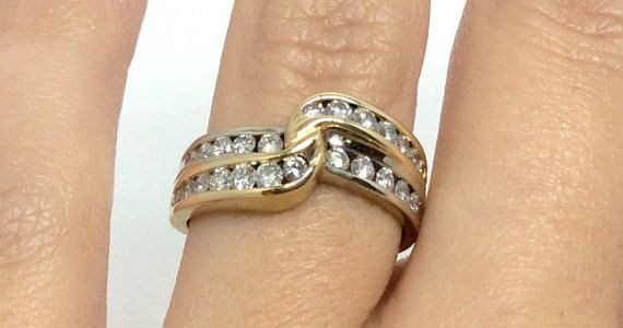 Antique Gold Ring with Diamonds by Appelblom on Etsy