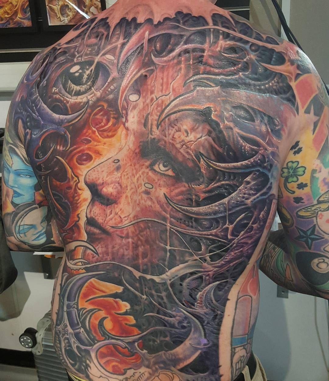 f8a24b7bf960c Biomech Face by @bradbako at Fat Ink Tattoo in Newcastle West New South  Wales. #biomech #organic #texture #face #bradbako #fatinktattoo #newcastle  ...