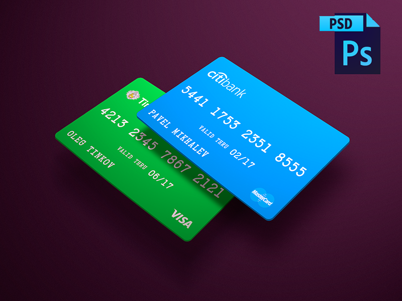 FREE! Cards PSD Mockup   Fintech & Banking Design   Credit