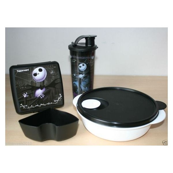 tupperware jack nightmare before christmas luch set new rare ebay liked on polyvore featuring home home decor holiday decorations christmas holiday