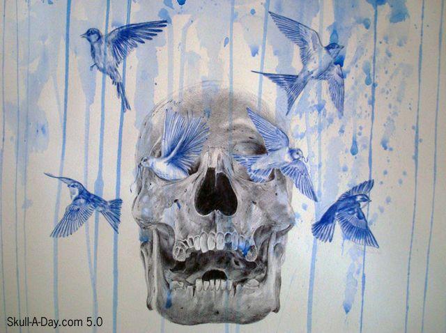Watercolor sugar skull | Tattoos | Pinterest