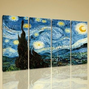 Van Gogh The Starry Night Canvas HD Picture Giclee Print Wall Art Home Decor Neptune Large Abstract Wall Art Dining Room