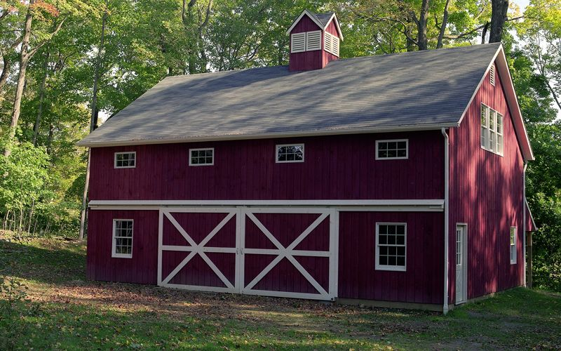 30 X 40 Pole Building With Full Loft And 8 12 Pitch Roof Knee Wall On 2nd Floor Barn House Plans Barn Style House Pole Barn House Plans