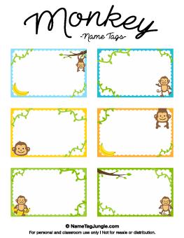 Versatile image with printable nametags