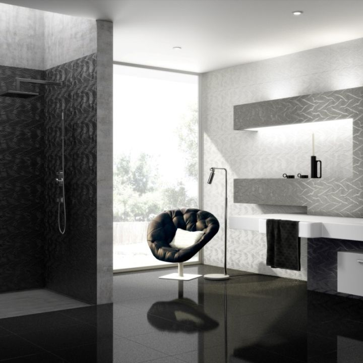 Smart Black Sparkle Floor Tiles Are Luxury Floor Tiles Made From Top