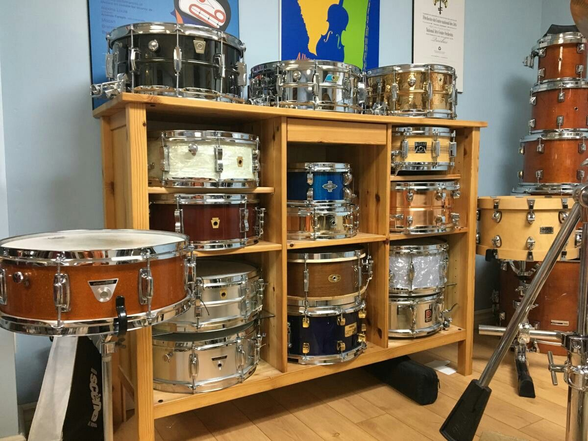 Great Idea For Drum Storage And Display Found On