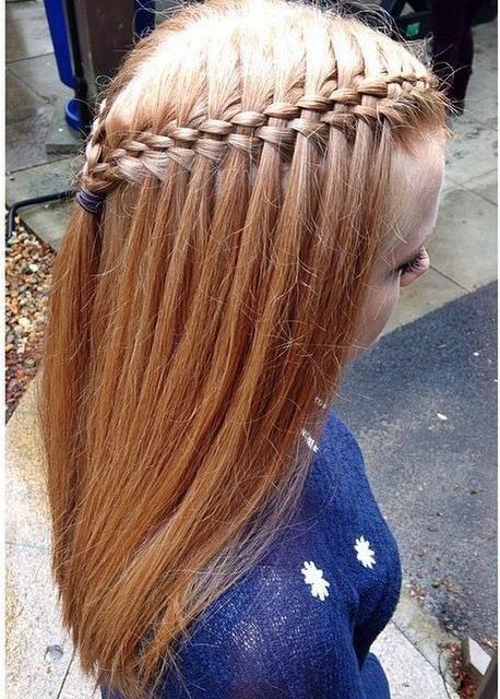 Five Strand Waterfall Trends Style Frisuren Geflochtene Frisuren Frisuren Lange Haare Geflochten