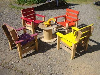 recyclage palettes salon de jardin