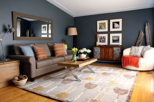 Petrolblaue w nde wohnzimmer wohnideen eklektisch wohnen - Wohnideen farbe wohnzimmer ...