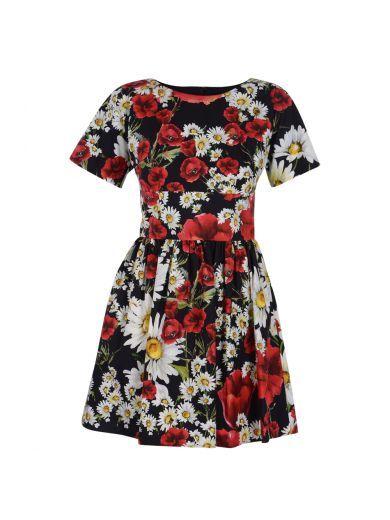 DOLCE & GABBANA Dolce&Gabbana Abito Stampa Papaveri. #dolcegabbana #cloth #dresses