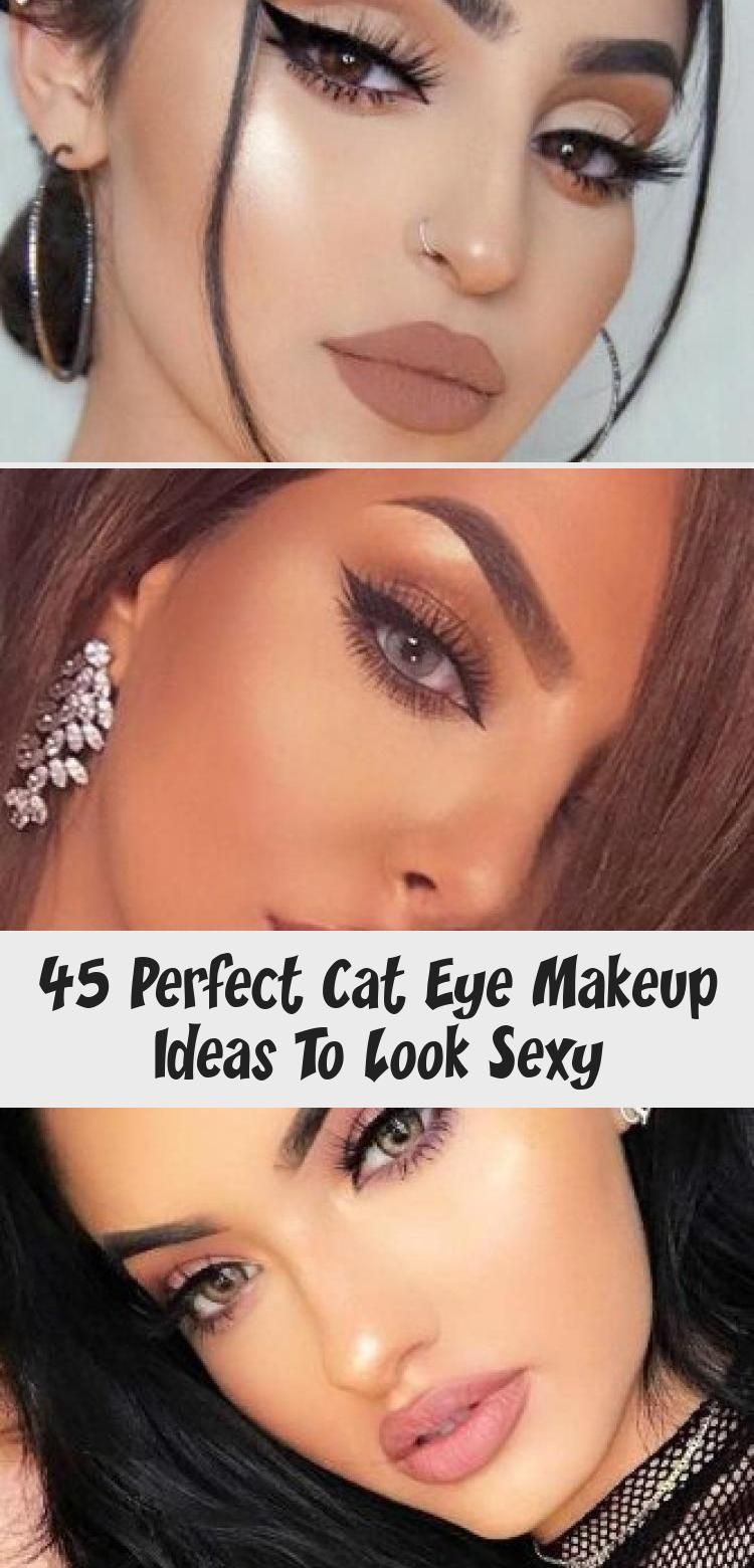 Soft Natural Makeup With Thin Line ★ We've collected the most beautiful yet simple cat eye makeup