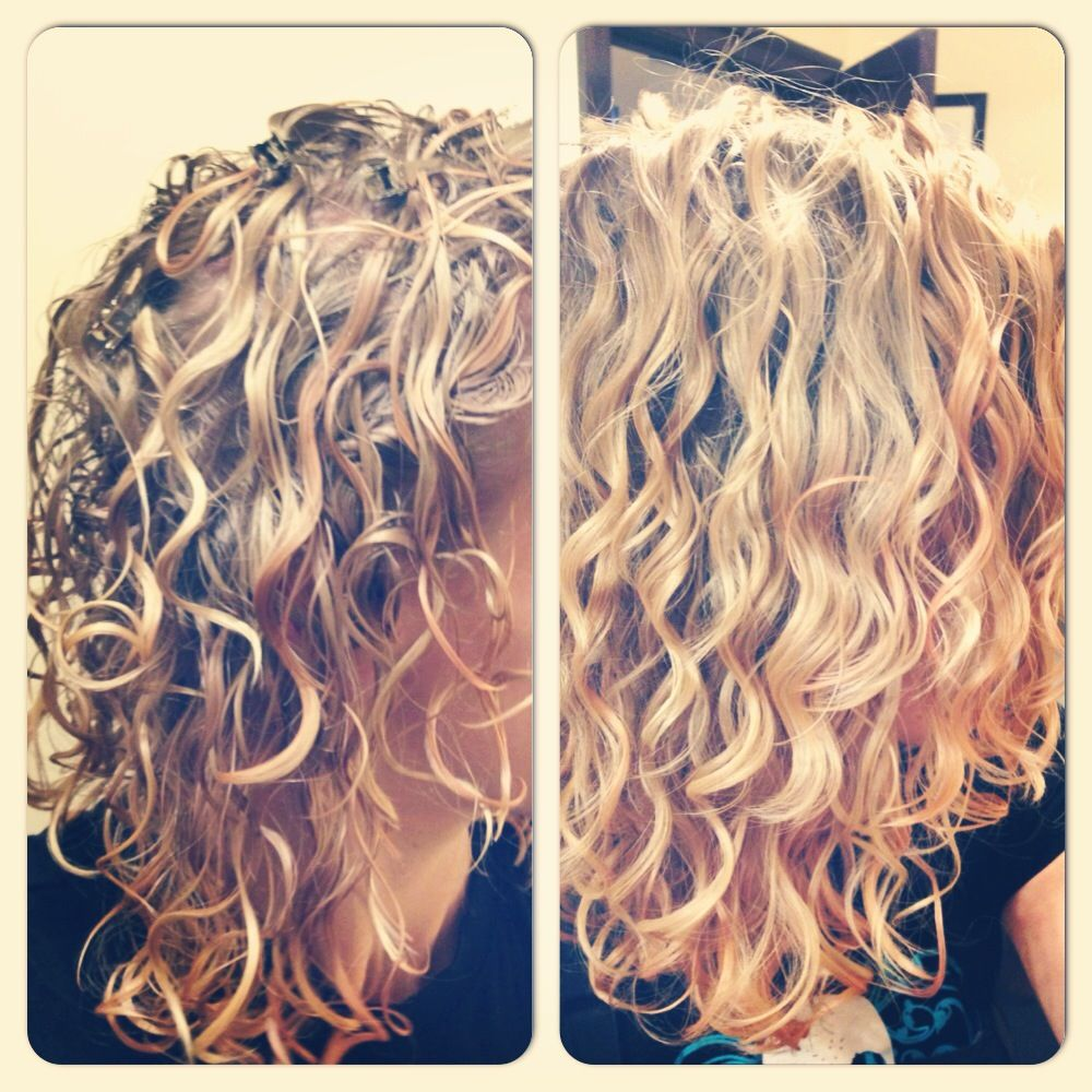 My hair before/after I removed the Ultra Defining Gel cast