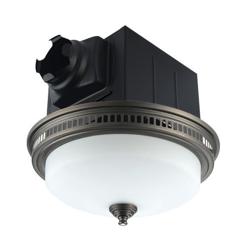 Tuscany 110 Cfm Ceiling Exhaust Bath Fan With Light Fan