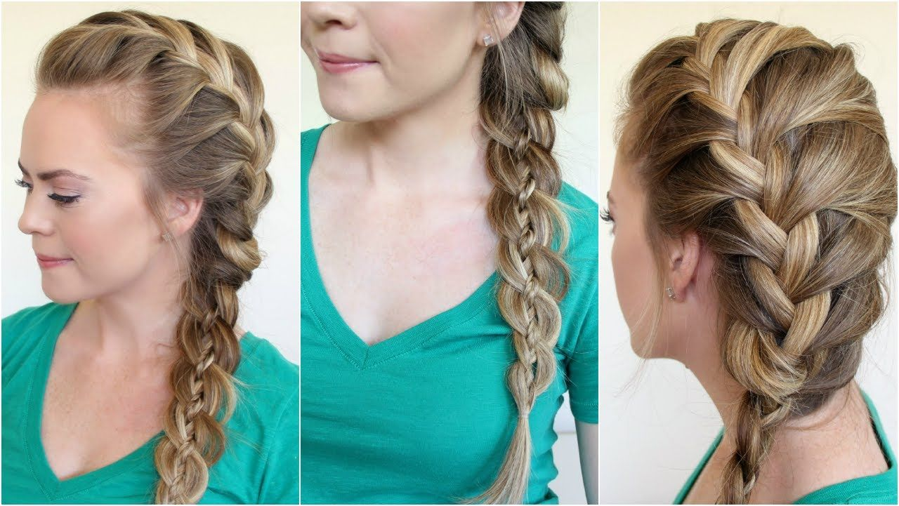French Braid Into Four Strand Side Braided Hair How To Video Tutorial By Melissa Cook Side Braid Hairstyles Side French Braids French Braids Tutorial