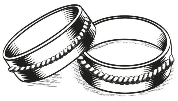 Free Symbolic Wedding Rings Coloring Pages Printable Ring Sketch