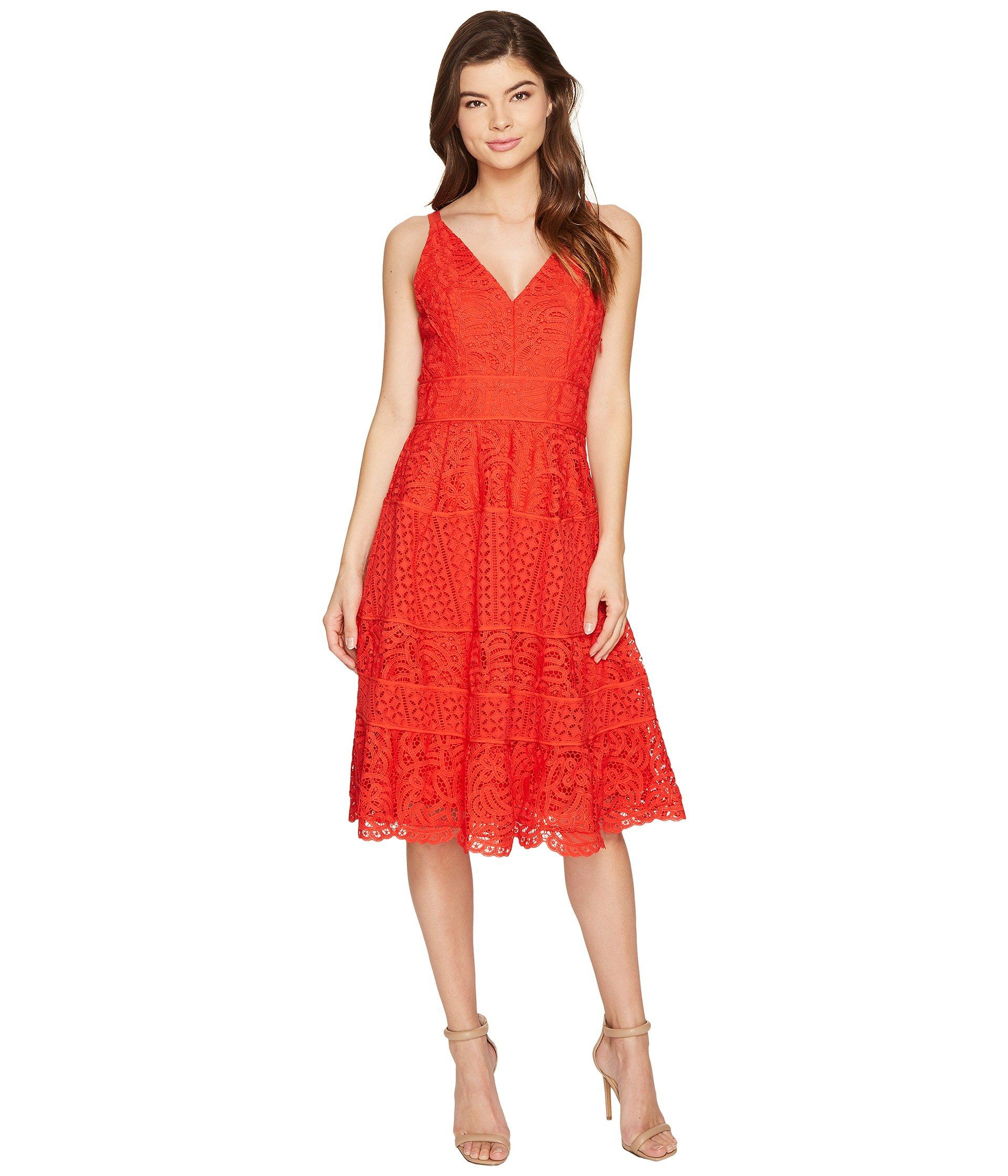 430a758b6091 ADELYN RAE Laureen Woven Lace Midi Fit and Flare. #adelynrae #cloth ...