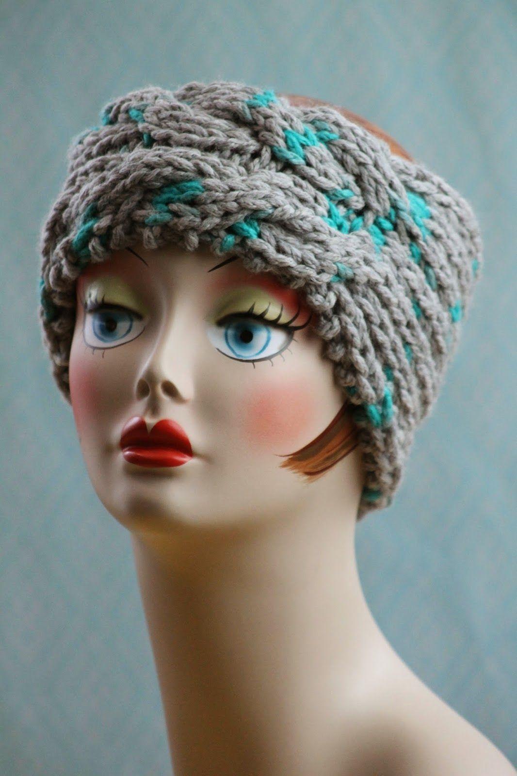free pattern - Blue Angel Headband Balls to the Walls Knits, A ...