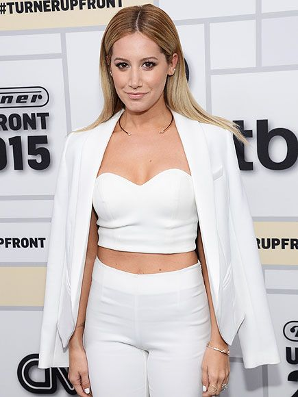 "ASHLEY TISDALE'S CROP TOP--   The white out look is so hot for summer. Pick up the actress's Lovers + Friends ""Mad About You"" bustier, $60, for this weekend's Memorial Day festivities!"