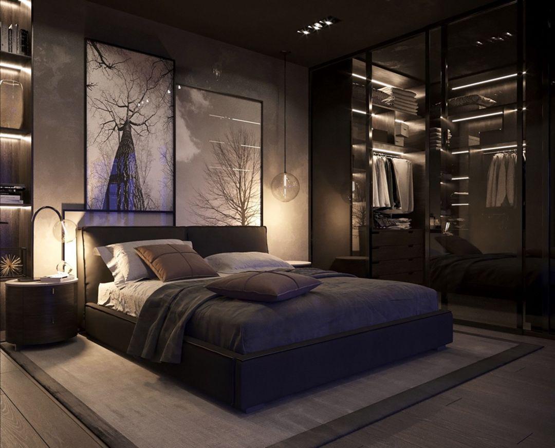 15 Gorgeous Men S Bedroom Design With Black Wall Color Schemes Ideas In 2020 Luxury Bedroom Master Fancy Bedroom Simple Bedroom Design