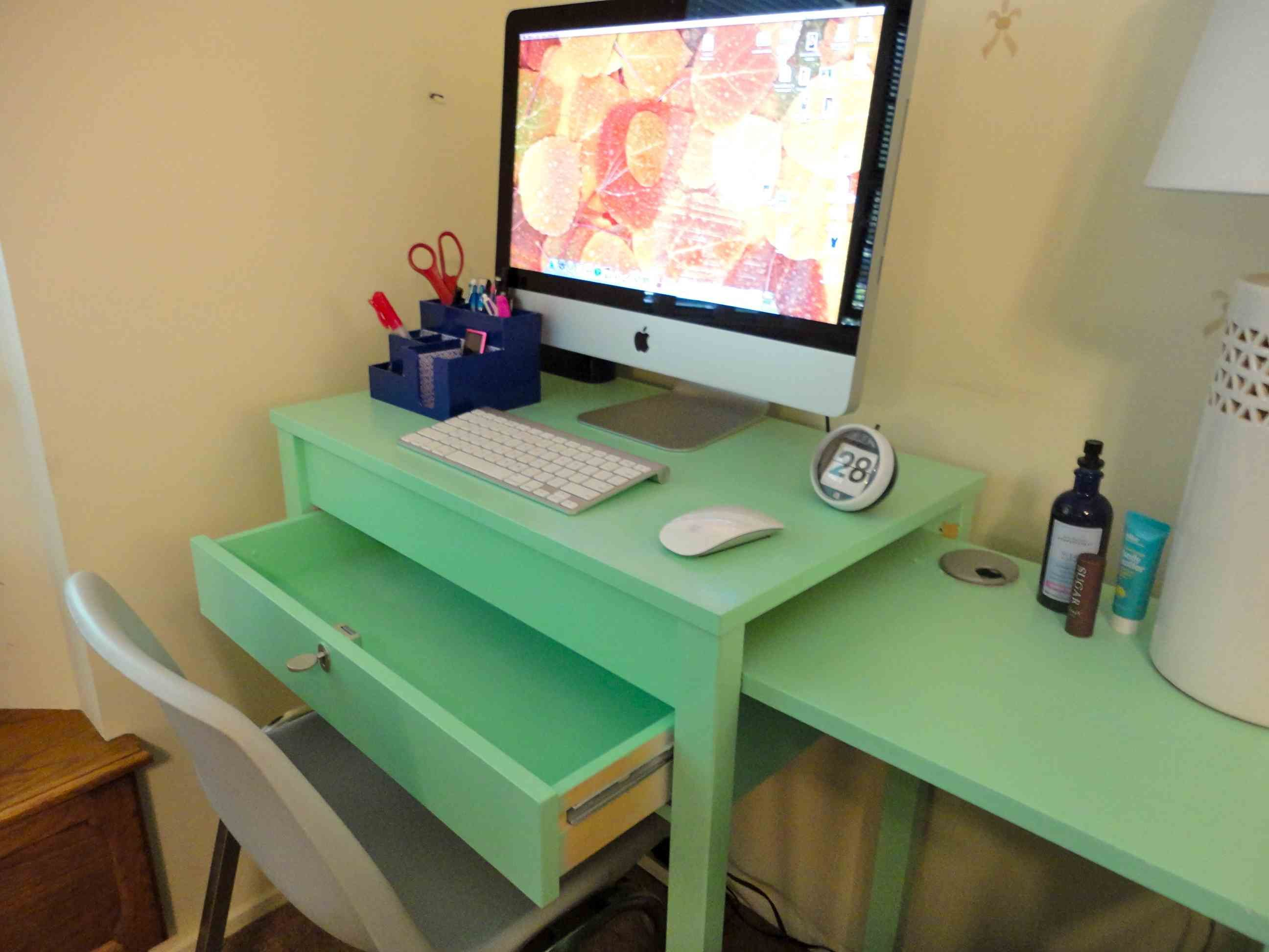 IKEA hack laptop desk Diy home furniture, Ikea hack