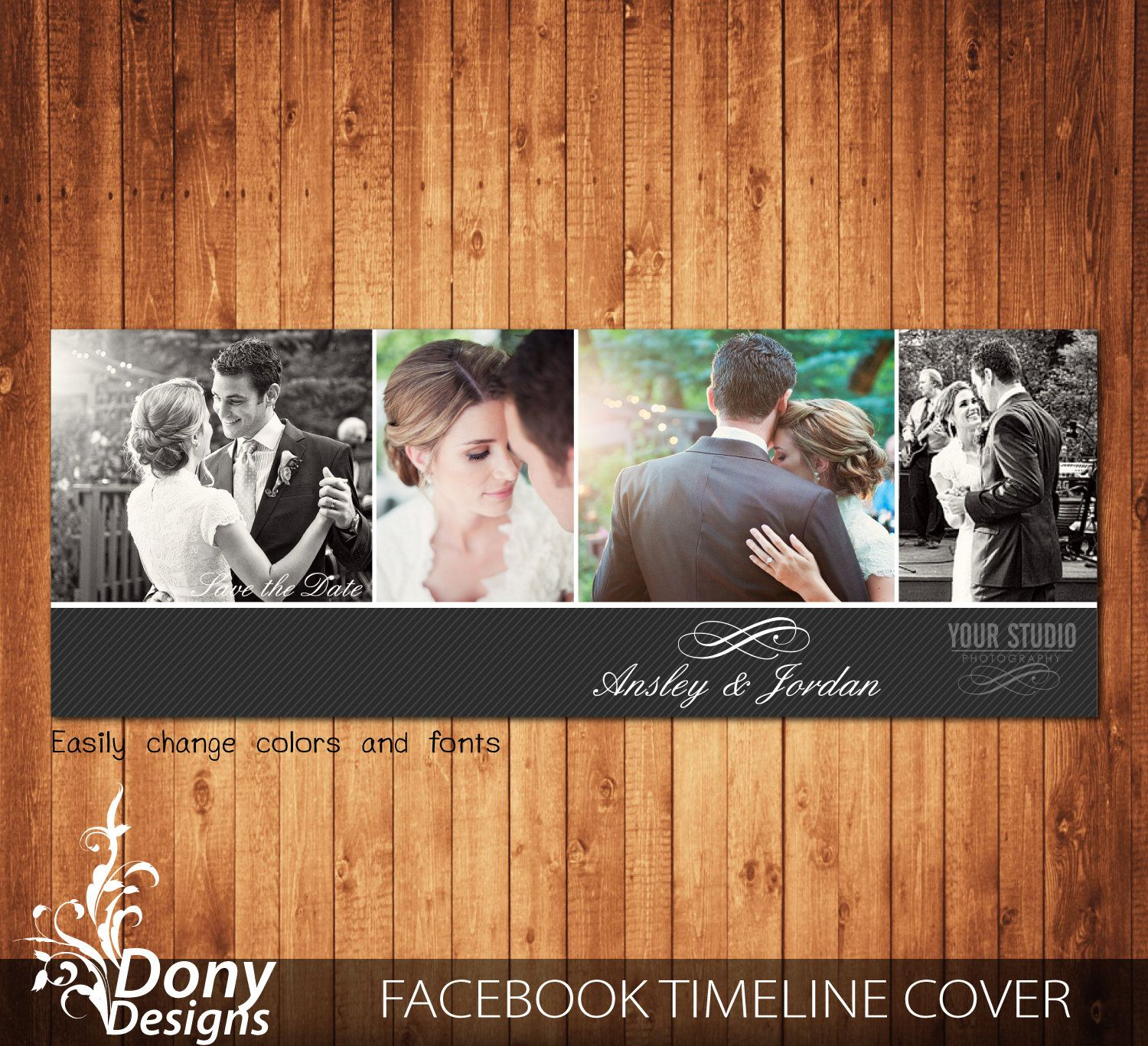 Wedding Facebook timeline cover template photo collage - Photoshop Template Instant Download BUY 1 GET 1 FREE: fc345 by DonyDesigns on Etsy