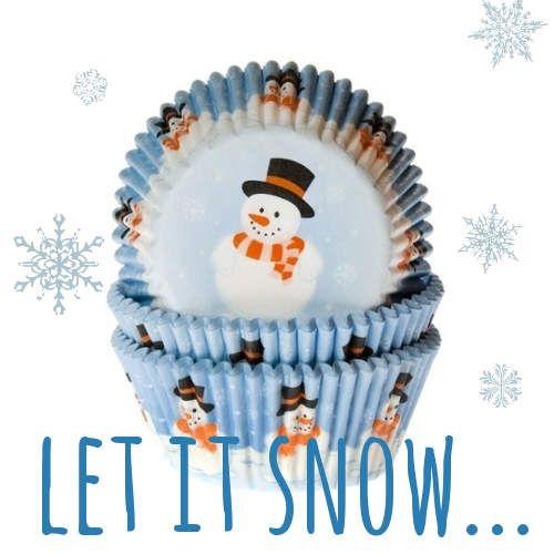 Wunderschöne Muffinförmchen mit Schneemann-Motiv passend zum Winter oder für Weihnachten! #Muffinförmchen #Schneemann # Winter #Weihnachten