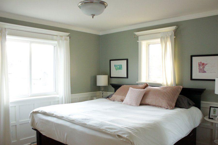 greenish gray paint color is restoration hardware bay. Black Bedroom Furniture Sets. Home Design Ideas