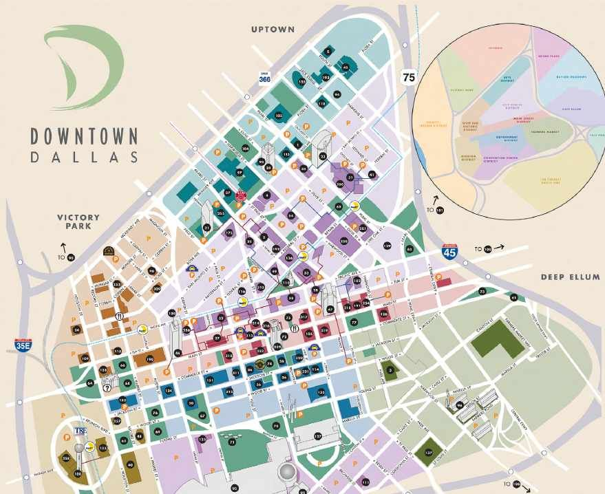 Central Business District Getting Around Map