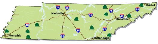 TN: Image Map of Tennessee Horse Trails, http://www.tn.gov/environment/parks/findapark/horseback.shtml