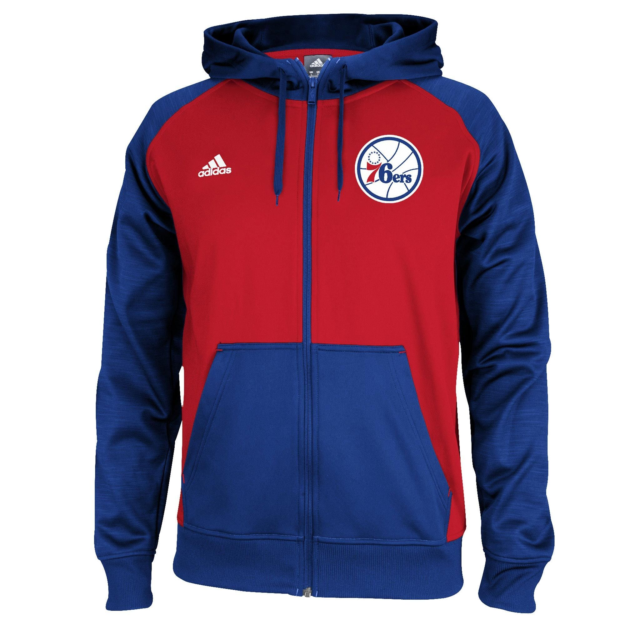 Home all star all star game 2015 comprare canotta nba all - Adidas Philadelphia 76ers Red Royal Blue Pre Game Full Zip Hooded Jacket