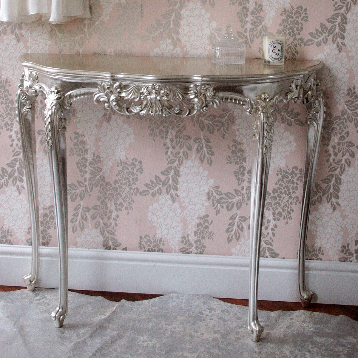 Sylvia Silver Console Table By The French Bedroom Company