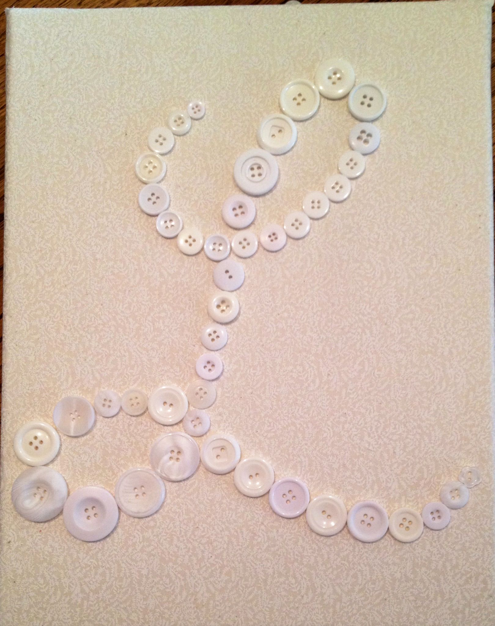 Button Monogram  Diy  L Is For Lucy  Rose