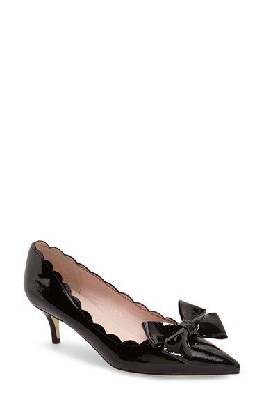 60eab515af7a kate spade new york  maxine  scalloped bow patent pump (Women) available at   Nordstrom